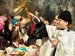 The Orthodox Easter Day in Russia