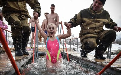 Get to Know About Dipping Children in Frozen Water During Russian Epiphany