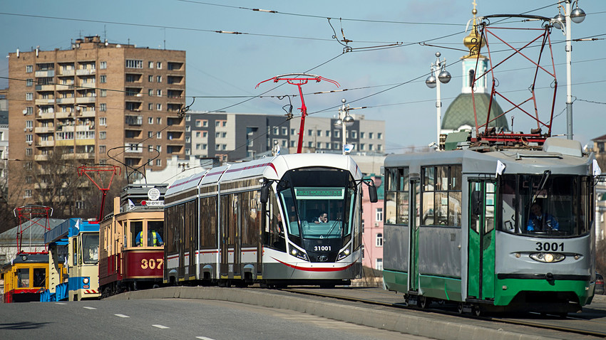 trams in Russia