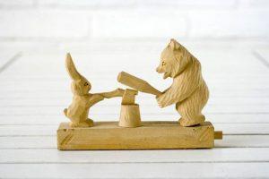 bear wooden toys